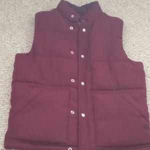 Burgundy Old Navy Puffy Vest
